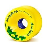 Orangatang Durian 75 mm 86a Freeride Longboard Skateboard Wheels (Yellow, Set of 4)