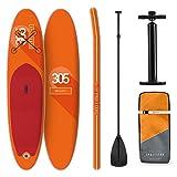 Klarfit Spreestar, Stand up Paddling SUP-Board, Set inkl.Paddel, Leash, Rucksack & Pumpe, 305x10x77cm