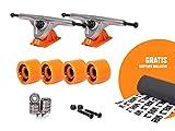 RAM UB-Truck 7' | 180 mm Longboard Achsen Set Setup inkl. gratis Griptape (orange)