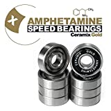 Skateboard Kugellager Amphetamine Ceramics Gold keramik bearings High-End für Longboard, Inline, Fidget Spinner