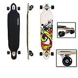 VINGO41' Skateboard ABEC 7 Freestyle Streetsurfer 104cm Drop through Longboard 70er-Stil Downhilling Aluminium Trucks Komplettboard