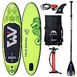"""AM Aqua Marina Breeze Stand Up Paddle Board 9.0"""" Grün aufblasbar iSUP im Set, 275 x 76 x 12 cm"""