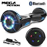 Mega Motion Hoverboard Self Balance Scooter 6,5'-2018 Elektro Scooter E-Skateboard-Scooter - UL zertifizierten 2272 LED - Räder mit LED Licht -Bluetooth Lautsprecher – 700W Motor