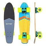 BAYTTER 22 Zoll Skateboard Komplett Board Mini-Cruiser aus 7-lagigem Ahornholz 57 x 15cm für Kinder, Jugendliche und Erwachsene mit ABEC-11 Kugellager und 95A Rollenhärte, 5 Farben wählbar (grün)