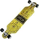 Atom Longboards Drop Through Longboard Skateboard, 40, Tiki Banner von Atom Longboards