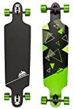 D Street Unisex Longboard D Street Drop Through TRI DST-COM-4000 39'x10' Green Skates Skating Boards