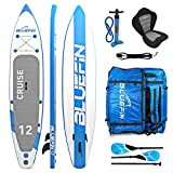 roten SUP Stand Up Paddle Board mit Kajak Conversion Kit, Unisex, Cruise, blau, 12'