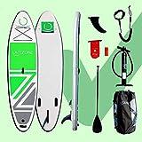 Outzone Premium iSUP Komplett-Set aufblasbares Stand Up Paddling Board für Einsteiger & Fortgeschrittene 320 x 84 x 15cm bis 150 kg