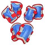 Apollo Protektoren Set für Kinder, Schoner für Knie Ellenbogen Handgelenk - Blau