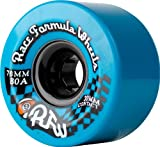 Sector 9 Race Formula 76 mm Longboard Skateboard-Räder, blau (80 A) 76 mm
