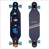 BAYTTER 41 Zoll Skateboard Komplettboard Longboard Cruiser Board aus 9-lagigem Ahornholz 104x24x10,5cm für Kinder Jugendliche Erwachsene mit ABEC-11 Kugellager & 7051 PU Rollen (Galaxie)