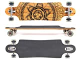 MAXOfit Deluxe Longboard GeoLines Bamboo No.96, Drop Through, 96,5 cm, 4 Schichten, ABEC11