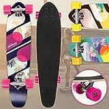 Physionics Skateboard   34' (86cm), Kugellager: ABEC-9, Designwahl   Longboard, Retro-Board, Mini Cruiser, Cruiser Board, Komplettboard - Palm Boulevard
