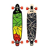 Osprey 40in Complete Twin Tip Longboard Skateboard with Rasta Design - Shapes