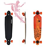 VINGO 41' Drop Through Board Skateboard Street ABEC 9 Freeride Longboard Freestyle Retro Old Skate Board