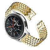 BHYDRY Ersatz-Metallarmband für Samsung Galaxy Watch (46mm)