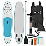 [in.tec] Stand Up Paddle Board 305x71x10cm Türkis Surfboard SUP Paddelboard Wellenreiter aufblasbar