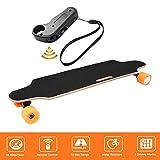 Bunao Elektro Longboard E Skateboard Elektrisches City Scooter Elektrolongboard mit Fernbedienung und Motor | Reichweite Ca. 10 km, Geschwindigkeit 20km/h (Orange)