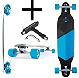 RAM Longboard Solitary 2.0 Fr drop through 96,5 cm 38' Blau + Fantic26 Skatetool