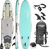 THURSO SURF Waterwalker All Around aufblasbares Stand Up Paddling Board SUP 320x79x15 cm Paket Inclusive Paddel mit KARBON-Schaft/2+1 Flossen mit Schnellverschluss/Leine/Pumpe/Rucksack