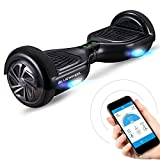 Bluewheel HX310s 6.5' Hoverboard Self Balance Scooter - Kinder Sicherheitsmodus mit App – Bluetooth Lautsprecher – Starker Dual Motor – LED - Elektro Self-Balance Board E-Skateboard