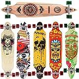 [Maronad.GCP] Longboard Skateboard drop through Race Cruiser ABEC-11 Skateboard 104x24cm Streetsurfer skaten FUN (Modell Cruiser - Indian)