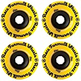 Sector 9 Race Formula 71mm (Center Set) Yellow Longboard Wheels - Durometer 78a by Sector 9