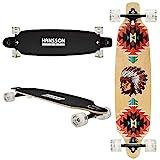 Hansson.Sports Top Longboard Komplett Skateboard Long Board 39' (99cm) Ecstasy