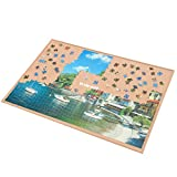 LAVIEVERT Wooden Jigsaw Puzzle Board Puzzle Storage Puzzle Saver with Non-Slip Surface for Up to 1000 Pieces