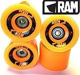 RAM Longboard Rollen Solitary 2.0 (4er Set inkl.Kugellager) (orange)