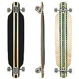 Clamaro Longboard HULAHU Apex 43 inch Komplettboard aus 9 Lagen Canadian Ahornholz Deck mit ABEC 7 Kugellager, 85A Rollen und Griptape, Hulahu Grün