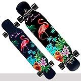 ZXPYN High-Speed-Silent Lager Skateboard Mini-Kreuzer Skateboard, Rad Farbe DIY, senden neun praktische Geschenkverpackungen, Longboard-Racing -,Flamingo