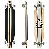 Clamaro Longboard HULAHU APEX 43 Inch Komplettboard aus 9 Lagen Canadian Ahornholz Deck mit ABEC 7 Kugellager, 85A Rollen und Griptape, Hulahu Braun
