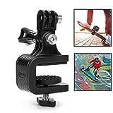 Sjpzwcrl Rotary Skateboard Kamera Halterung, für GoPro Xiaoyi und andere Action Kameras Kamera Halter Clip (Skateboard Camera Mount)