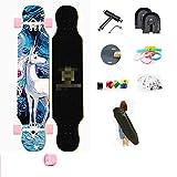 YSCYLY Vintage Skate Board,Longboard 107cm Skateboard,FüR Kinder Jungendliche Und Erwachsene
