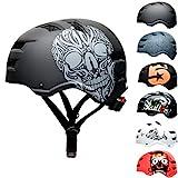 Skullcap® BMX & Skaterhelm - Fahrradhelm - für Jugendliche & Erwachsene von 14-39 Jahren, Skull, M (55 – 58 cm)