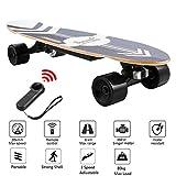 Caroma 70cm Elektro Skateboard, Elektro-Board, Skateboard elektrisch mit Motor, E-Skateboard, E-Board, Ahornholz Deck, 350W Motor | Reichweite 7 km, Max. Geschwindigkeit 20km/h (schwarz)