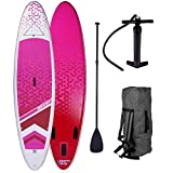 SUP Board Stand up Paddle Paddling Surfboard Dude + Lady Partner-Set 300-320cm aufblasbar Alu-Paddel Hochdruck-Pumpe Rucksack Kick-Pad 120KG Lady 300
