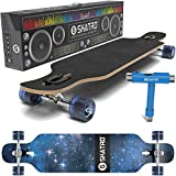 SKATRO Dropthrough Longboard Skateboard Freeride – inklusive T-tool