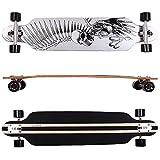 FunTomia Longboard Skateboard Drop Through Cruiser Komplettboard mit Mach1 High Speed Kugellager T-Tool mit und ohne LED Rollen (2082 NN1)