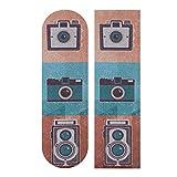 N\A 33.1x9.1inch Sport Outdoor Longboard Griffband Kamera Fotografie Modestil Drucken Wasserdichtes Skateboard Griffband für Tanzbrett Double Rocker Board Deck 1 Blatt