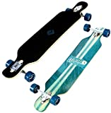 Koston Atom Drop Through Longboard Komplettboard 39.0 x 8.7 inch Artisan Blue - Komplett Longboard Complete Dropthrough Kugellagern