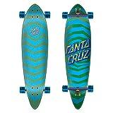 Santa Cruz Longboard Komplett Illusion Dot - 39 Inch Blau-Grun (One Size, Blau)