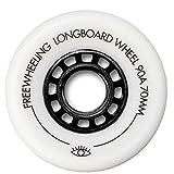 FreeWheeling Set von 4 Rollen Wheels 70 mm 90A für Longboard Square/Skateboard/Cruiser Slide - Cruising und Downhill - Cod. 1117610
