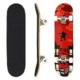 WeSkate Skateboard Komplett Board 79x20cm Holzboard ABEC-7 Kugellager 31 Zoll 7-lagigem Ahornholz, 85A Rollen für Anfänger Kinder Jugendliche und Erwachsene (Farbe 2)