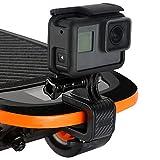 AuyKoo 180 Grad drehbare Multifuctional Skateboard Mount Halterung Ständer Clip für GoPro Hero 7 Xiaomi YI 4K EKEN Aktion Kamera DJI Osmo Action