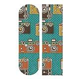 N\A 33,1 x 9,1 Zoll Sport Outdoor Longboard Aufkleber Kamera Fotografie Fashion Style Print Wasserdichtes Skateboard Griffband für Mädchen für Tanzbrett Double Rocker Board Deck 1 Blatt