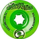 Sector 9TOP Regal Neun Kugeln Skateboard Rad, grün, 70mm 78A