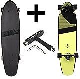 Ram Longboard S/S15 Blacker Kicktail Cruiser 36' 91,5cm x 24,8cm Sunny Lime + Fantic26 Skatetool