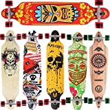 [Maronad.GCP] Longboard Skateboard drop through Race Cruiser ABEC-11 Skateboard 104x24cm Streetsurfer skaten HAWAII